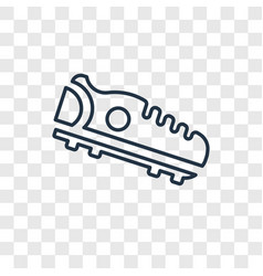 Cleats concept linear icon isolated on vector