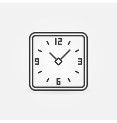Clock in rounded squares icon vector image