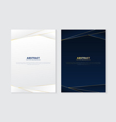 Cover brochure template header and footers vector