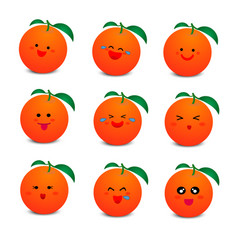 cute orange with smiley face vector image