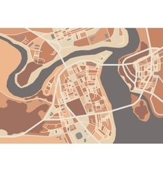 Decorative city map vector