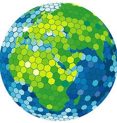 Earth globe disco ball vector