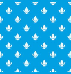 eco vegetarian food pattern seamless blue vector image