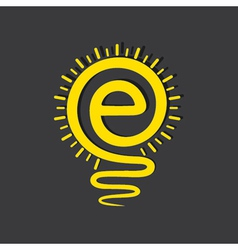 Email sign male a light-bulb vector image