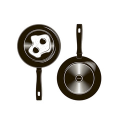 frying pan with long handle described vector image