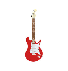 guitar electric red rock music instrument vector image