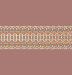 Hand drawn damask stripe seamless border pattern vector