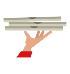 hand holding pizza box delivery vector image