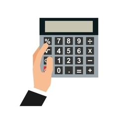 Hand human with calculator vector