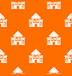 House with broken windows pattern seamless vector