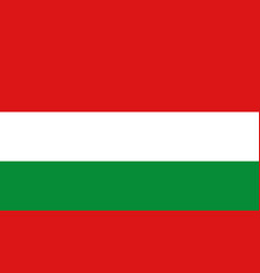 hungary flag icon in flat style national sign vector image