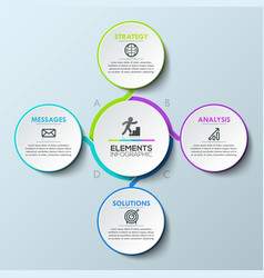 Infographic design layout circular diagram with 4 vector