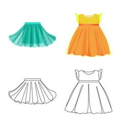 Isolated object fashion and garment icon vector