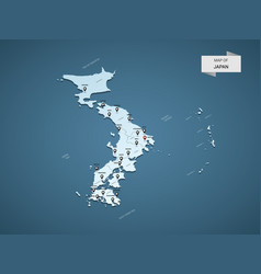 isometric 3d japan map concept vector image