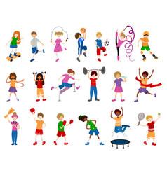 kids sports vector image