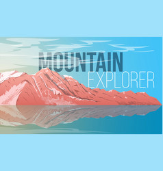 landscape with mountain vector image