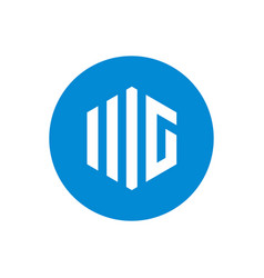 letter mg logo icon design template blue color vector image