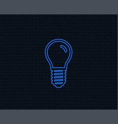 light bulb icon lamp e14 screw socket symbol vector image