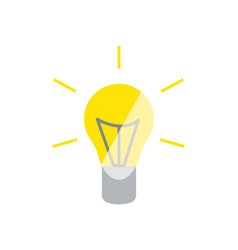 lightbulb glowing yellow icon illuminated vector image