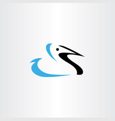 logo duck symbol icon design vector image