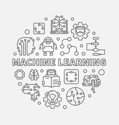 Machine learning concept round vector