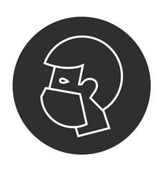Man in medical face mask vector