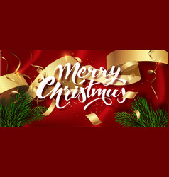 merry christmas winter holiday greeting card vector image