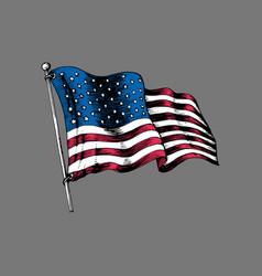 national american flag drawn vector image