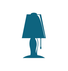 nightstand bulb light vector image