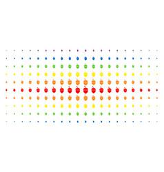 Oak acorn spectral halftone array vector