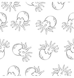 octopus background pattern style vector image