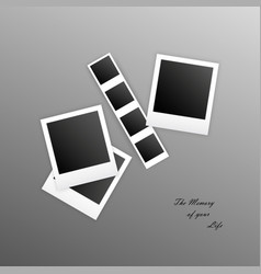 photo frames with shadow on an gradient background vector image