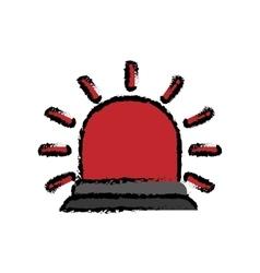 Red flashing alarm vector