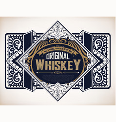 Retro logo for whiskey vector
