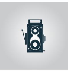 Retro professional cinema film camera vector