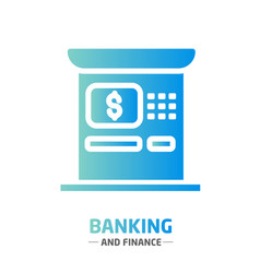 Shape design finance icon atm vector