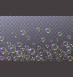 Soap bubbles located below vector