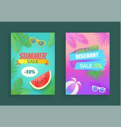 summer sale reduction set vector image