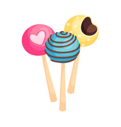 Sweet lollipops as holiday symbol isolated on vector