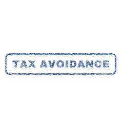 Tax avoidance textile stamp vector