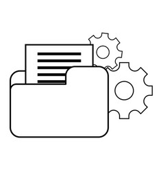 Technical support documents folder vector