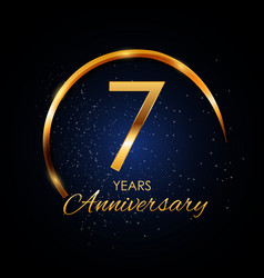 Template logo 7 year anniversary vector
