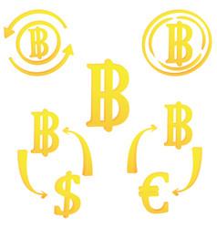 Thai baht thailand currency symbol icon vector