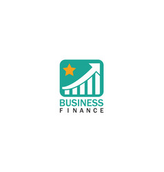 trade star business finance logo vector image