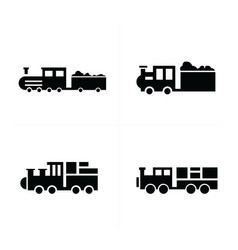 train logistics and transport icons vector image