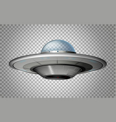 Ufo in round shape vector