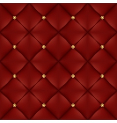 upholstery seamless pattern with gold buttons vector image
