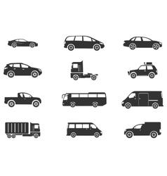 Vehicles icon set vector