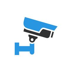 Video surveillance camera gray blue vector