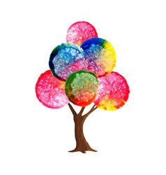 watercolor tree concept for environment care vector image